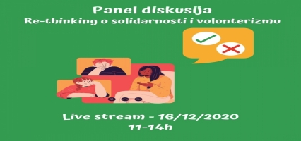 Panel diskusija ''Re-thinking o solidarnosti i volonterizmu''